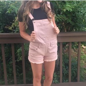 Other - Light pink overalls